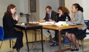 Deborah Fournier of AIDS Action testifying before DPH