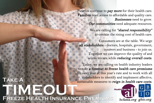 Time Out For Health Care Cost Increases
