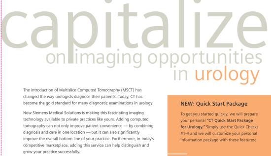 "Siemens Brochure: ""Capitalize on imaging opportunities in urology"""