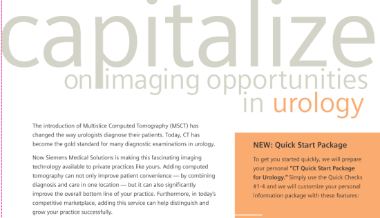 "Siemens Brochure: ""Capitalize on imaging opportunities in urology"""