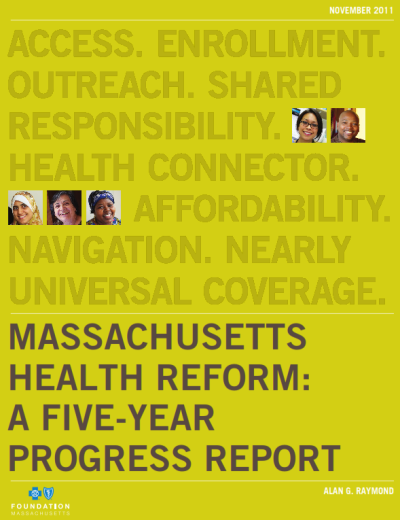 Health Reform 5-year Progress Report Cover