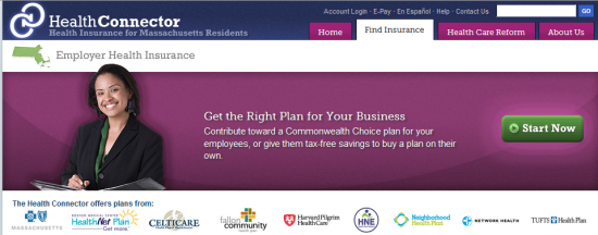 Site header for Connector's small business coverage page