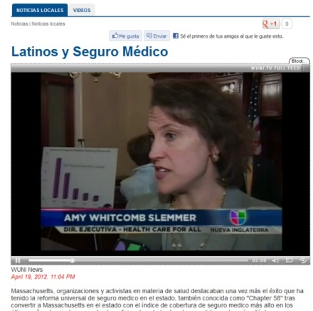 Univision Coverage of Press Conference on Hispanic Coverage in Massachusetts
