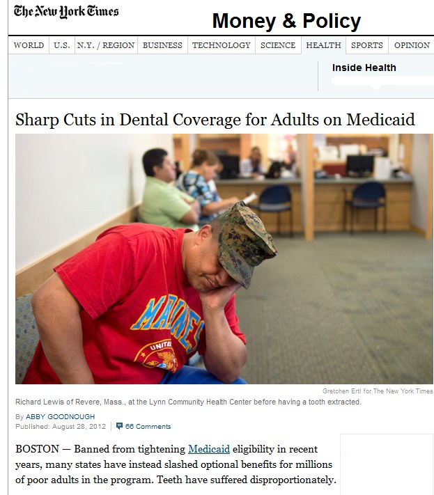 NY TImes dental story screenshot