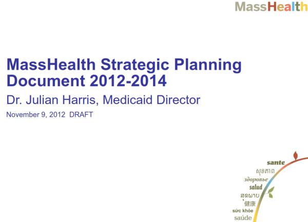 MassHealth Strategic Plan Cover