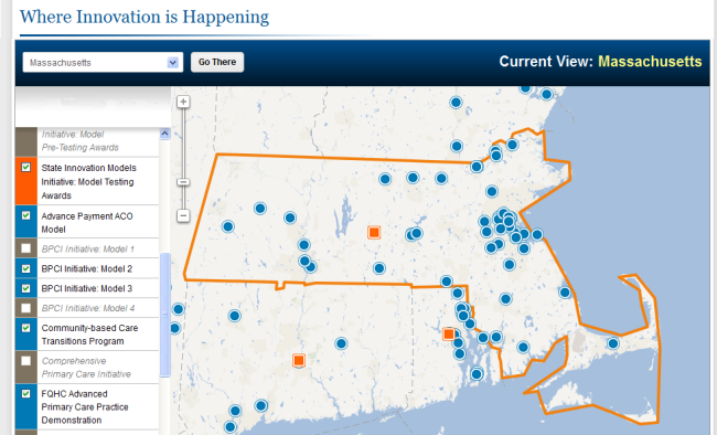 Massachusetts Sites Participating in Federal Health Innovation