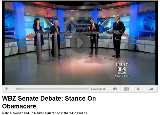 Senate candidates Gabriel Gomez and Ed Markey debated the health care law on June 5, 2013