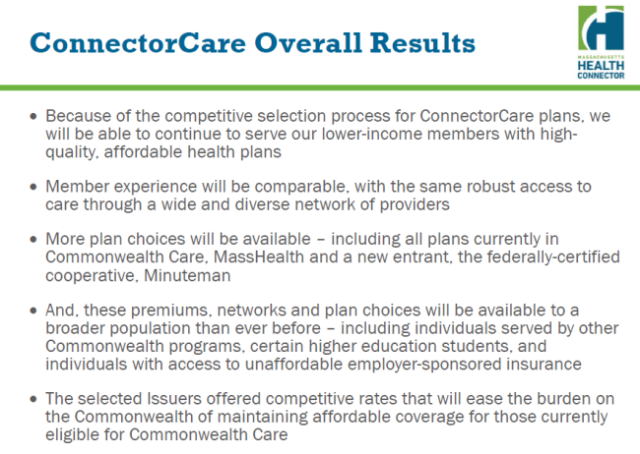 ConnectorCare Results slide