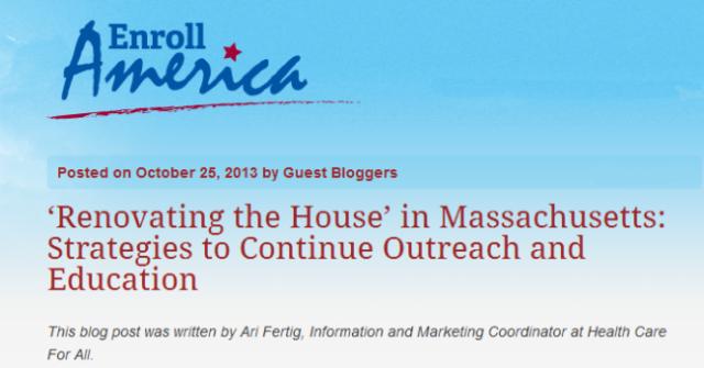 Enroll America Blog - title