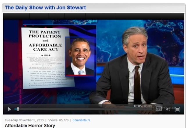 Jon Stewart talks about who is telling the truth about the ACA