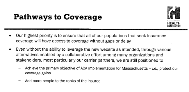 Connector Slide: Highest Priority is coverage