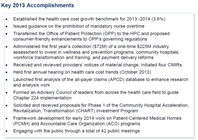 HPC 2013 Accomplishments