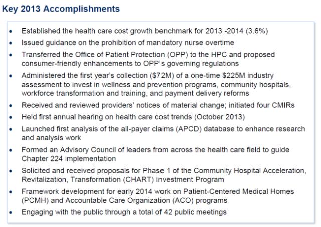HPC 2013 Accomplishments