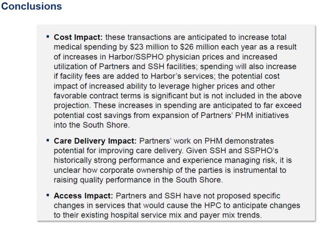 HPC Partners South Shore conclusions 12-18-13